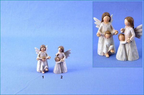 Poly Schutzengel mit Kind in zwei Variationen