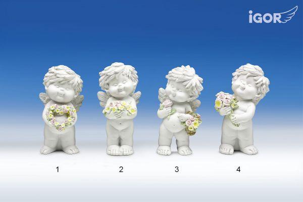 Engel Igor auf Blumen M