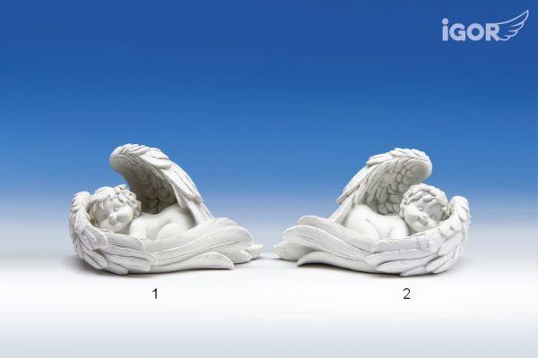 Engel Igor im Flügel liegend