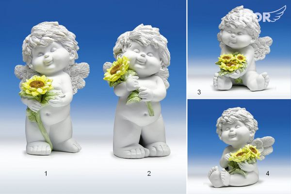 Engel Igor mit Sonnenblume Gr. L