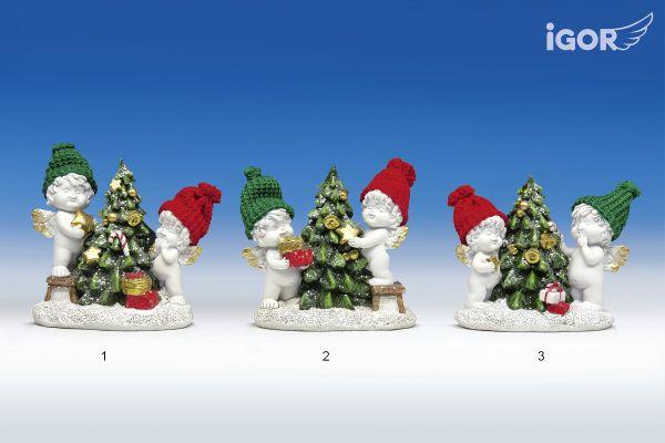 Weihnachtsengel Igor & Olga mit Christbaum