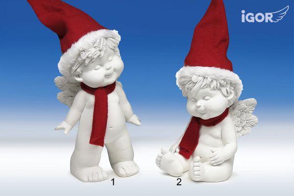 Engel Igor mit Santa Mütze Gr. L1