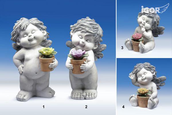 Engel Igor mit Blumentopf Größe L
