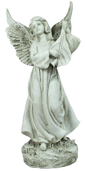 Grabschmuck Engel mit Harfenblatt