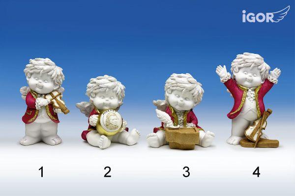 Musikengel Igor ( Mozart ) stehend/sitzend Gr. M