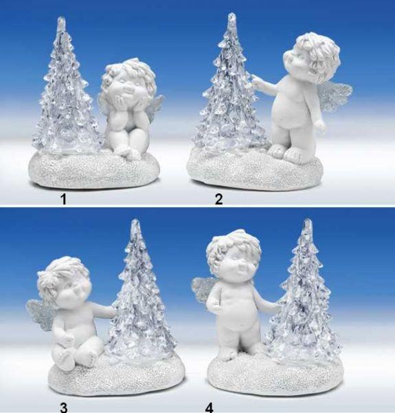 Engel Igor mit LED Baum