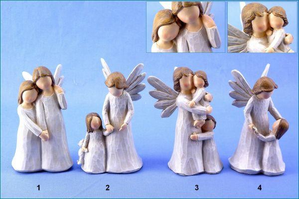 Poly Schutzengel mit Kind in vier Variationen