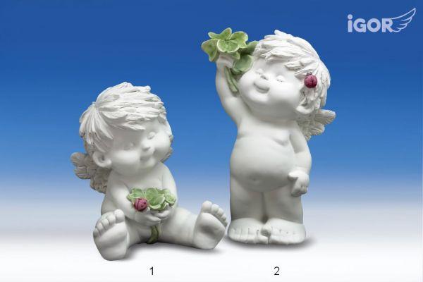 Engel Igor mit Kleeblatt