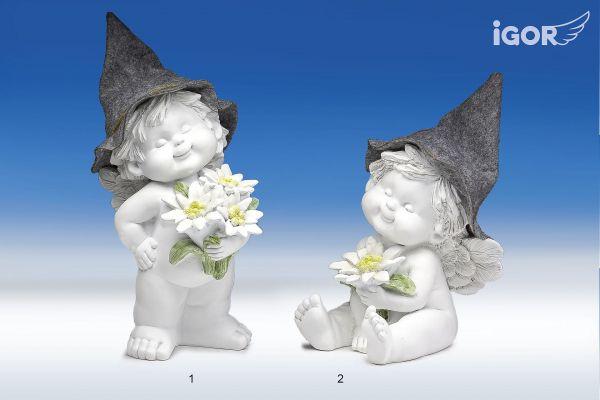 Engel Igor stehend oder sitzend mit Filzhut Gr.L