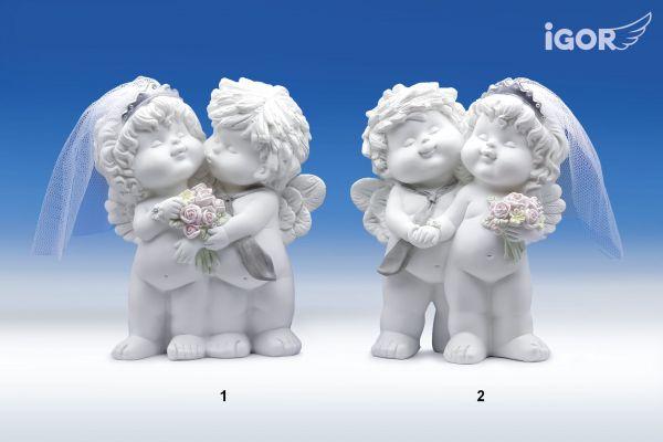 Liebesengelpaar Igor & Olga zur Hochzeit Größe M