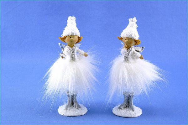 Engel stehend im 2er SET weiß 15cm