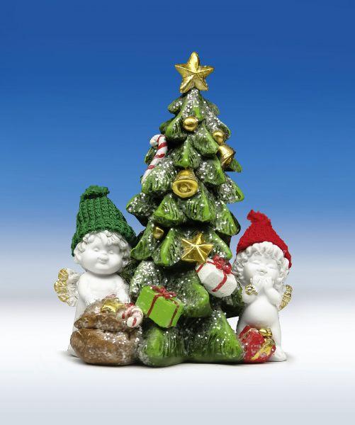 Weihnachtsengel Igor & Olga mit Christbaum Gr. L