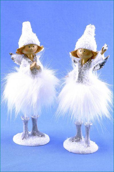 Engel stehend im 2er SET weiß 20,5 cm