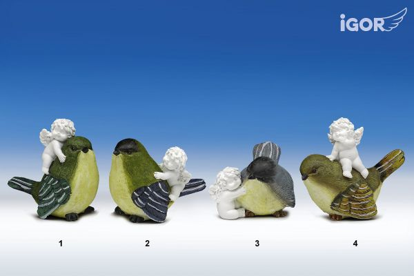 Engel Igor mit Vogel in Klarsichtverpackung Gr.M