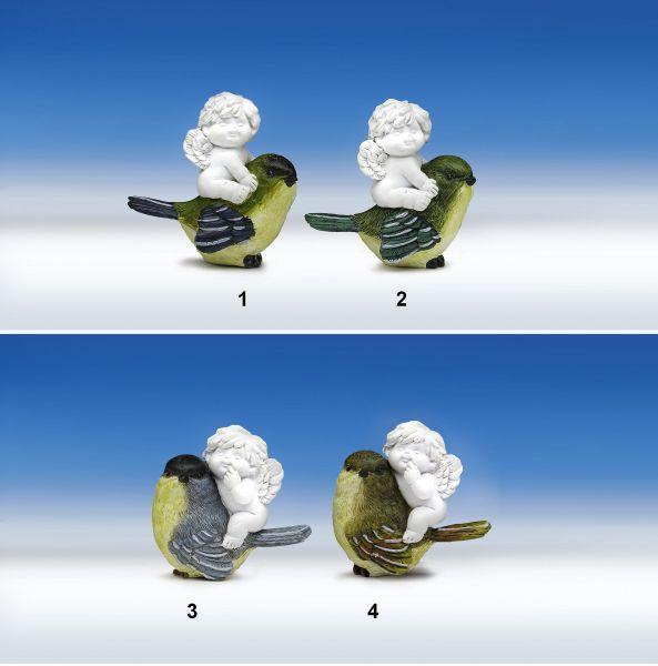 Engel Igor mit Vogel in Klarsichtverpackung