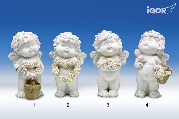 Engel Igor mit Blumen Größe: M1
